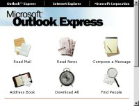 Outlook Express graphic window